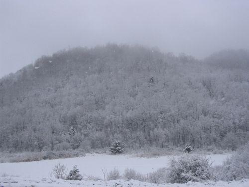 Easton Mountain snowy